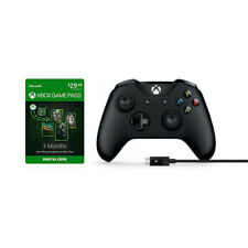 Xbox Wireless Controller and Cable for Windows+Microsoft Xbox Game Pass 3-Month