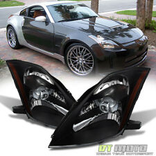 Black Headlamps For 2003 2004 2005 350Z Z33 Fairlady [HID D2S Model]  Headlights