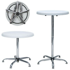 Tavolino Bar Bistrot 2 Altezze regolabili Tavolo Rotondo Acciaio e HDPE Giardino