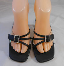 Mootsies Tootsies Black Strappy w/ Faux Bling Heels Womens Size 8.5