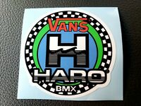 old school bmx decals stickers hotfoot set green and black on clear hi-ten