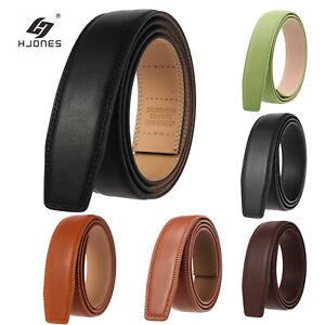 Luxury Men's Automatic Buckle Belt Strap Multicolour Leather Ratchet Strap Jeans