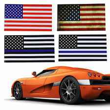 "American USA Flag Sticker Decal For Car bumper , Truck, Boat 3""x5.5"" Patriotic"