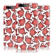 DYEFOR RED POLKA DOT TEAPOT PRINT WHITE PHONE CASE COVER FOR ONEPLUS