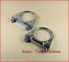 2 x abrazadera de tubo de escape para Ford, montaje abrazadera, perchas abrazadera/CLAMP m8 Ø 54 mm