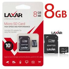 LaXar Ultra 8GB Micro SD Memory Card Class 10 With Adapter -High Speed Card