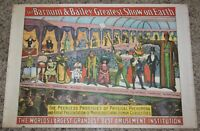 Vintage Barnum & Bailey Greatest Show On Earth Poster 1960 Circus World Museum