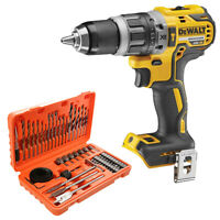 DeWalt DCD796 18V Brushless Combi Drill + 56 Piece Drill & Screwdriver Bit Set
