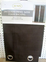 1 CHOCOLATE PANEL 95%  BLACKOUT HEAVY THICK GROMMET WINDOW CURTAIN LINED DRAPE