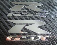 2 Chrome GSXR GSX R Decals Stickers suzuki 600 750 1000