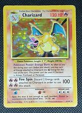 MODERATE PLAY! CHARIZARD 4/102 BASE SET UNLIMITED HOLO RARE POKEMON CARD