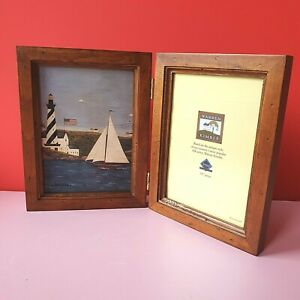 Warren Kimble Coastal Breeze Lighthouse Yacht USA Lake Wooden Fold Photo Frame
