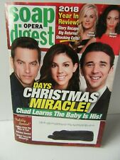 Soap Opera Digest December 31 2018 DAYS CHRISTMAS MIRACLE! Days Of Our Lives