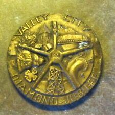 1958 Valley City ND Diamond Jubilee Medal Coin HK713, North Dakota Token