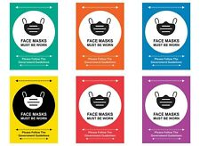 Large Face Mask Poster A1 A2 A3 Colour Variations *VAT Registered*