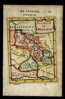 Moravia Silesia Bohemia Europe 1683 Mallet hand colored map