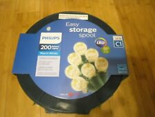 New Philips 200ct  LED Faceted Sphere String Lights Warm White Green Wire
