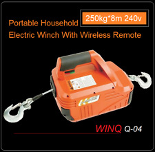 250KG*8.0M Portable Household Electric Winch With Wireless Remote Control