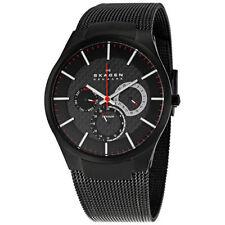 Skagen Men's 809XLTBB Multi-Function Black Titanium Mesh Bracelet Watch