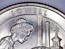 Washington MA 2019 P Lowell America The Beautiful Quarter Die Break Hair Part