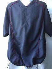 Nike Team Fit Dry Green Pullover 1/4 Zip Vented Sides Bottom Drawstring Logo Lg