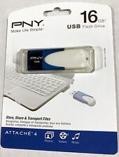 NEW SEALED Attache-4 16GB USB 2.0 Flash Drive Storage P-FD16GATT4BW-GE pen stick