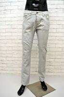 JECKERSON Pantalone Grigio Slim Uomo Taglia 46 Pants Men's Grey Jeans Cotone