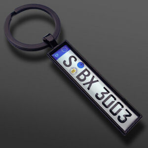 Schlüsselanhänger Kennzeichen Nummernschild Auto Geschenk Autokennzeichen PKW