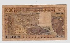 Senegal 1000 1.000 franchi    1981 MB Poor  pick 707Kb lotto 1074