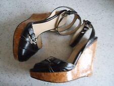 LADIES DOLCE & GABBANA BLACK SHOES WEDGES size 39 UK 6 used