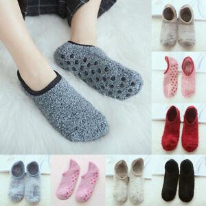 Women Mens Winter Warm Non-slip Home Fleece Thick Bed Slipper Floor Ankle Socks