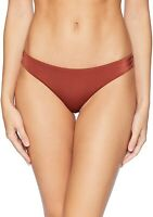 RVCA Women's 239780 Solid Shimmer Cheeky Bikini Bottoms Swimwear Size M
