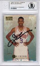 Allen Iverson Autographed 1996-97 Skybox Premium Rookie Card Beckett 10066053