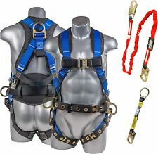 Palmer Safety Premium Fall Protection Full Body Harness Amp 6 Safety Lanyard