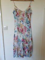 Per Una Floral Chiffon Lined Flare Mido Dress Size 18
