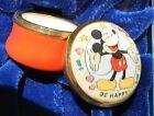 Halcyon+Days+Disney+Mickey+Mouse+Tiny+Lidded+Enamel+Box+Jar+BE+HAPPY