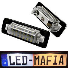 2x Mercedes Benz W210 W202 - LED License Plate Light Module - 6000K - Top