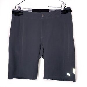 CLUB RIDE Mens Size MEDIUM M Shorts Cycling Adjustable Waist Gray