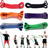 US_ Elastic Exercise Resistance Band Yoga Fitness Workout Stretch Bands Pull Up