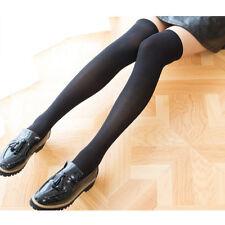 Thigh High Women Ladies Girls Over The Knee Cotton Velvet Socks Stocking Black