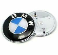 STEMMA COFANO MOTORE BAULE POSTERIO BMW 82 MM LOGO EMBLEMA FREGIO SERIE 1 3 5 7