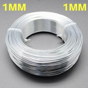1mm Aluminium Craft Florist Wire Jewellery Making Silver 10m lengths
