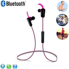 In-Ear Noise Isolating Wireless Bluetooth Headphones with Microphone -Hotpink