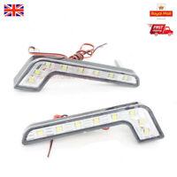 2X 8 LED DRL Car Daytime Running Driving Light Head Lamp Fog Light  White 12V