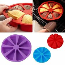 8 Triangle Cavity Portion Cake Mold Slices Pastry Pizza Pan Tray Mould Silicone