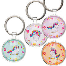 Metal Cartoon Unicorn Keyring Key Chain Kids Toy Gift Girls Stocking Filler