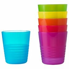 KALAS Mug Assorted Colours Plastic Pack of 6 Party Cups