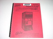 BALLY ROAD RUNNER Arcade Driving Game Manual 1971 32 pages VF cond Original
