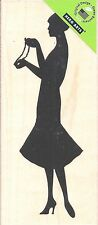 Woman With Pearls Silhouette  K5519  HERO ARTS RUBBER STAMPS 2.25