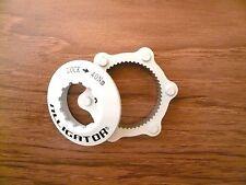 Alligator fit Shimano DISC Rotor Center-Lock Centerlock Adapter Adaptor-White
